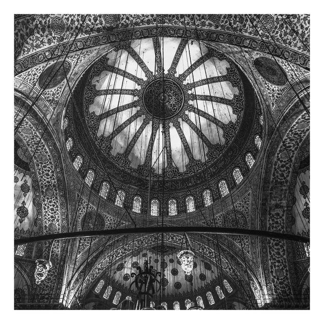 Forex Fine Art Print - Die Kuppeln der blauen Moschee - Quadrat 1:1