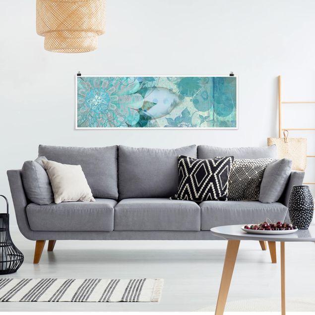 Poster - Winterblumen - Panorama Querformat