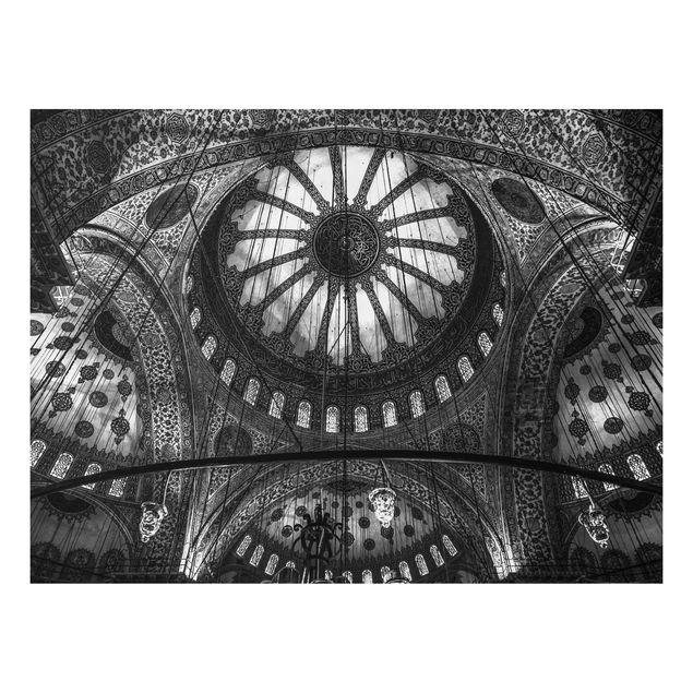 Forex Fine Art Print - Die Kuppeln der blauen Moschee - Querformat 3:4
