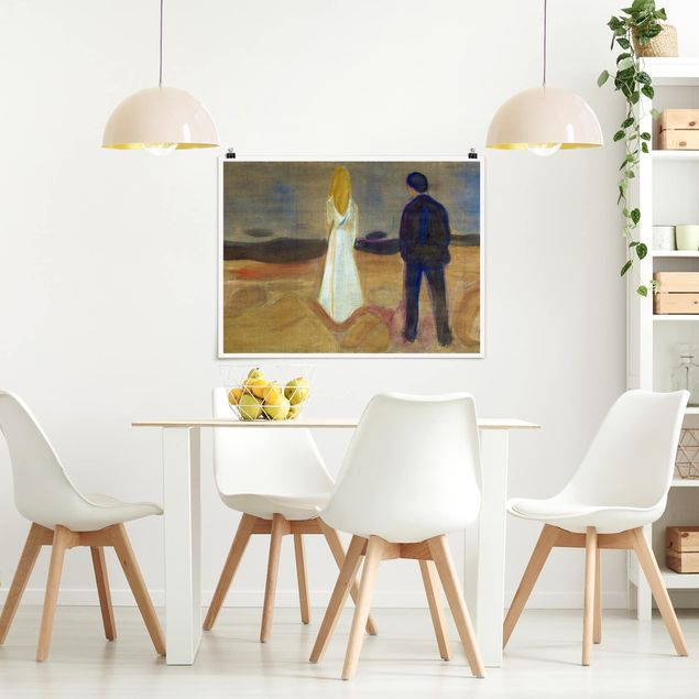 Poster - Edvard Munch - Zwei Menschen - Querformat 3:4