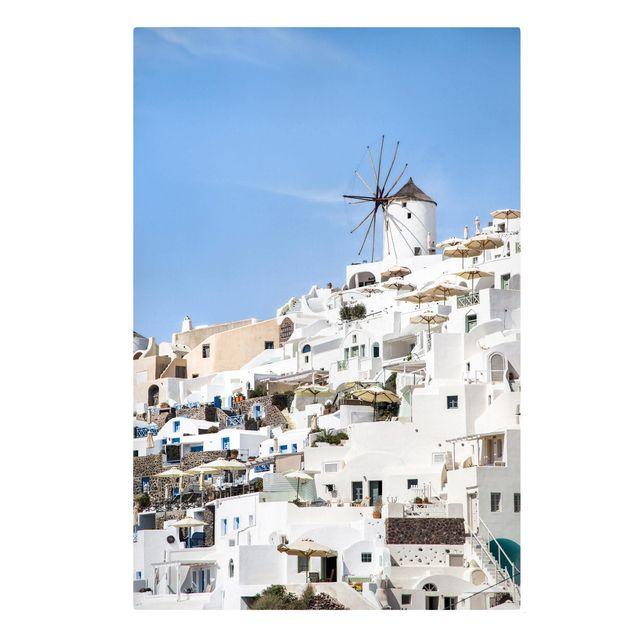 Leinwandbild - Weißes Griechenland - Hochformat 2:3