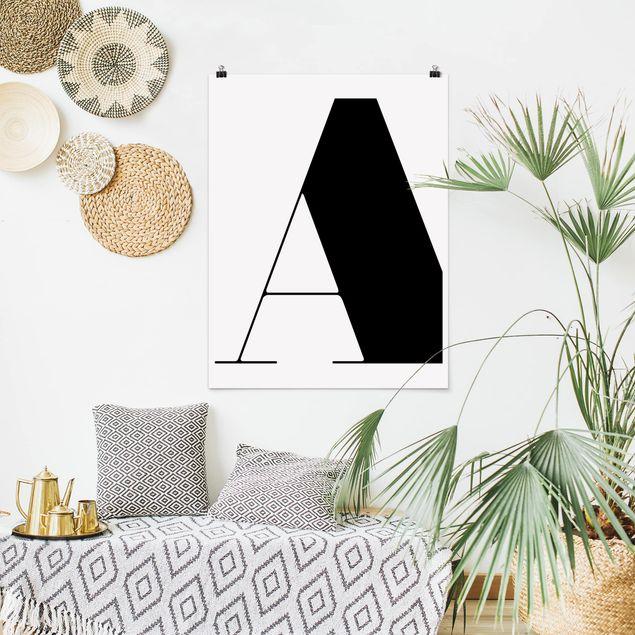 Poster - Antiqua Letter A - Hochformat 3:4