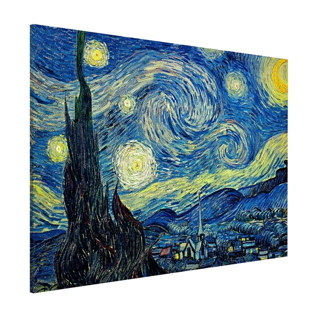 Magnettafel - Vincent van Gogh - Sternennacht - Memoboard Querformat 3:4