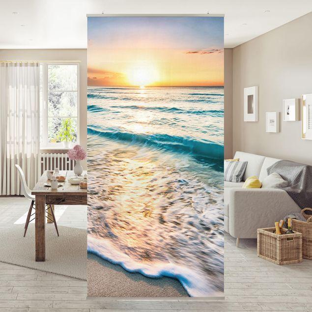 Raumteiler - Sonnenuntergang am Strand 250x120cm