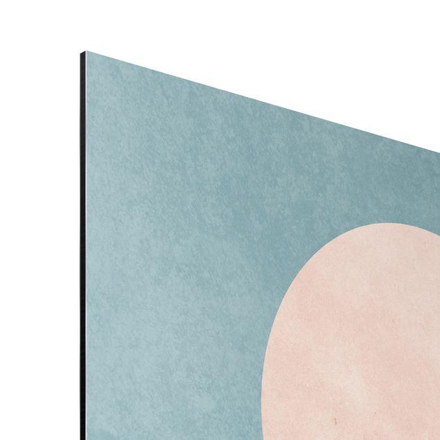 Aluminium Print - Vögel vor rosa Sonne II - Hochformat 3:2