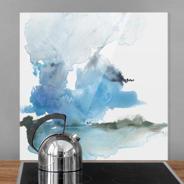 Glas Spritzschutz - Gletscherschmelze II - Quadrat - 1:1