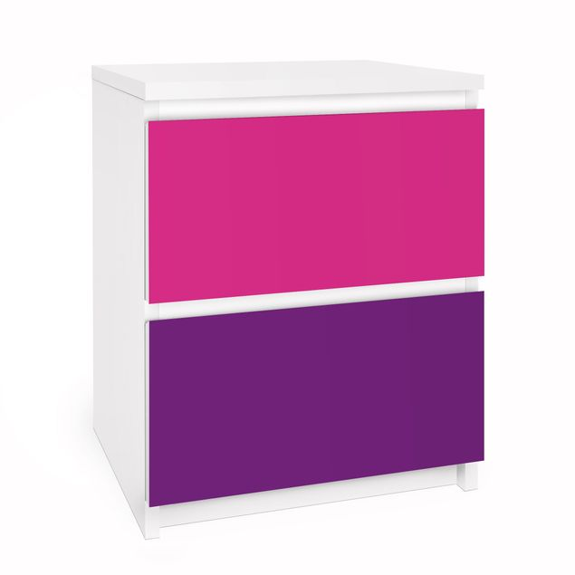 Möbelfolie für IKEA Malm Kommode - Selbstklebefolie Set Girly