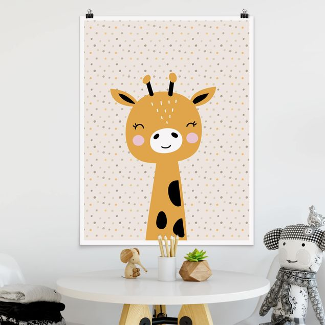 Poster - Baby Giraffe - Hochformat 3:4