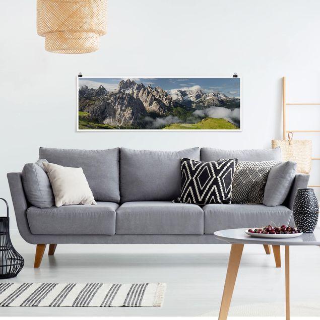 Poster - Cadini di Misurina in Italien - Panorama Querformat