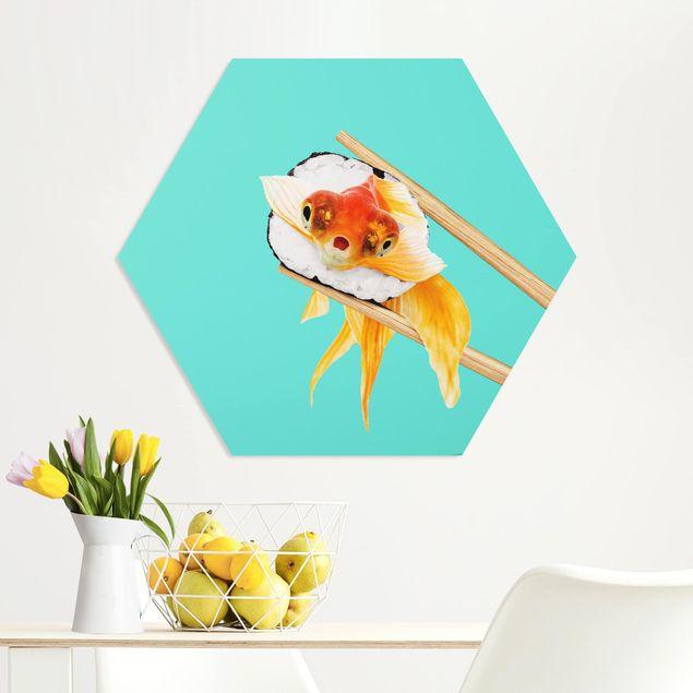 Hexagon Bild Forex - Jonas Loose - Sushi mit Goldfisch