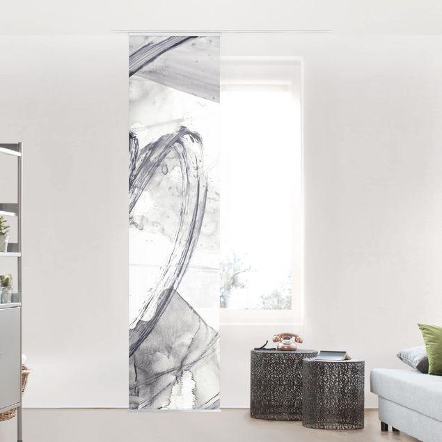 Schiebegardinen Set - Sonar Schwarz Weiß I - Flächenvorhang