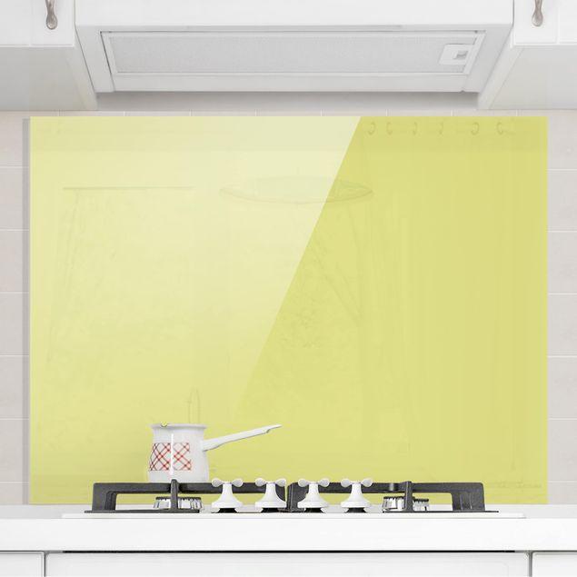 Glas Spritzschutz - Pastellgrün - Querformat - 4:3