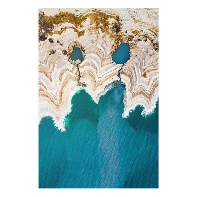 Forex Fine Art Print - Lagune in Israel - Hochformat 3:2