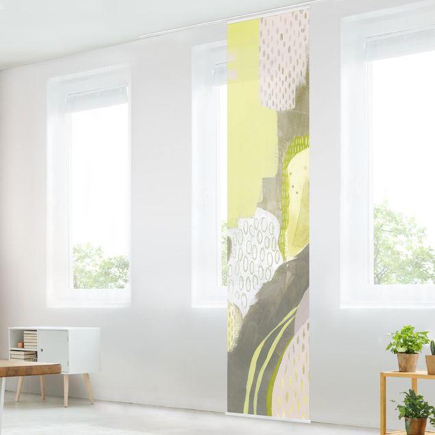 Schiebegardinen Set - Sonnenflecken I - Flächenvorhang