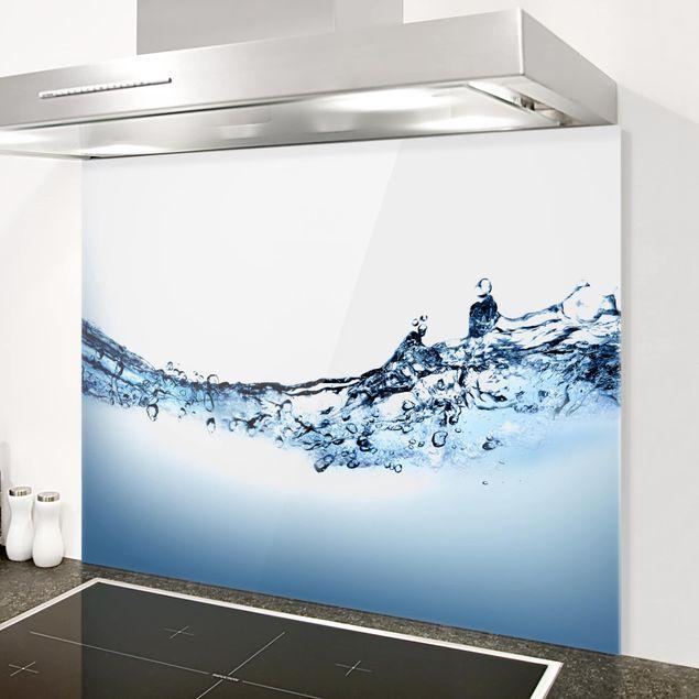 Glas Spritzschutz - Fizzy Water - Querformat - 4:3