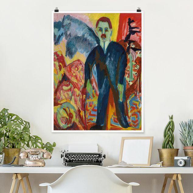 Poster - Ernst Ludwig Kirchner - Der Krankenwärter - Hochformat 3:4