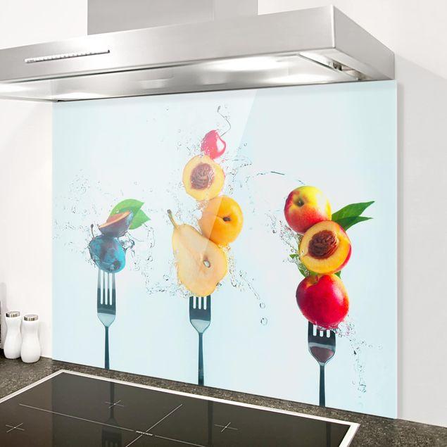Glas Spritzschutz - Fruchtsalat - Querformat - 4:3