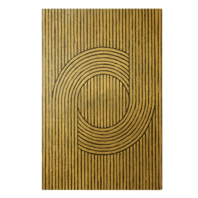 Leinwandbild Gold - Zederrillen Grau II - Hochformat 2:3