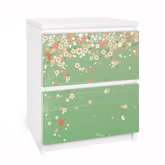 Möbelfolie für IKEA Malm Kommode - Selbstklebefolie No.EK236 Spring Background