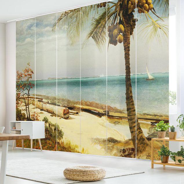 Schiebegardinen Set - Albert Bierstadt - Küste in den Tropen - 6 Flächenvorhänge