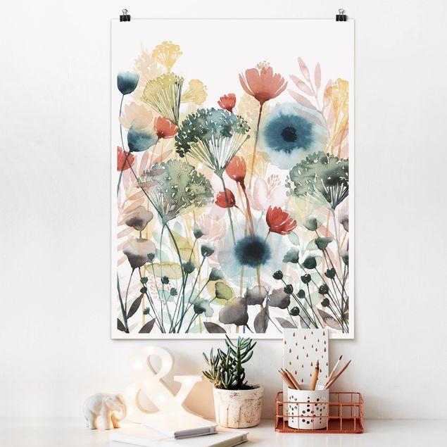Poster - Wildblumen im Sommer I - Hochformat 3:4