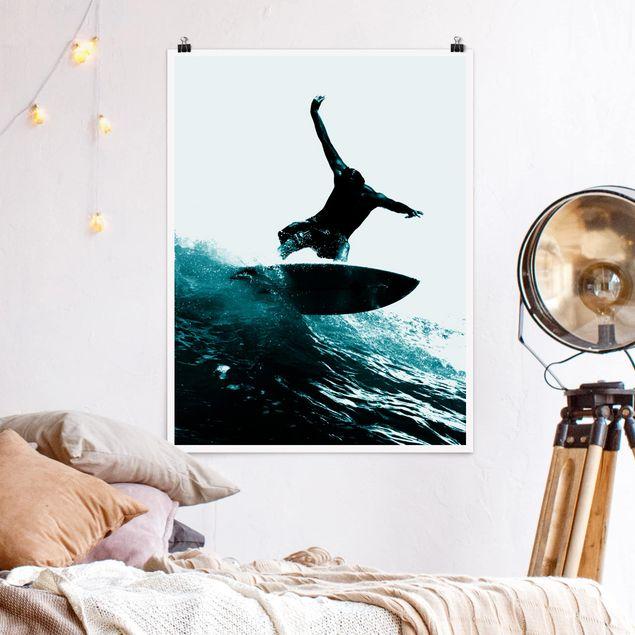 Poster - Surfing Hero - Hochformat 3:4