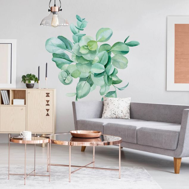 Wandtattoo - Aquarell Eukalyptus Zweige Bouquet XXL