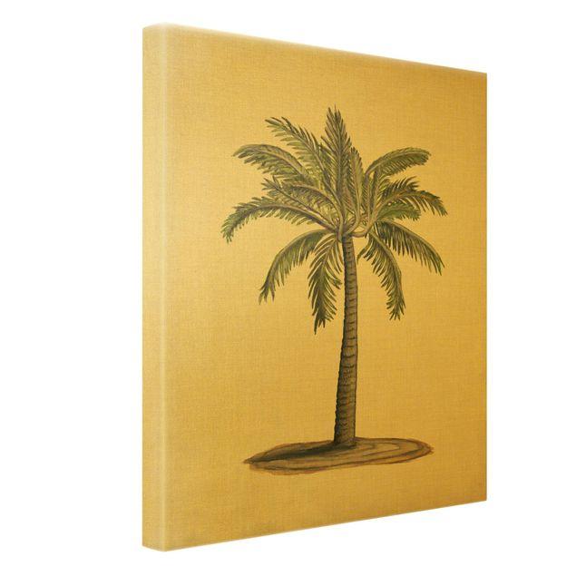 Leinwandbild Gold - Britische Palmen I - Hochformat 3:4