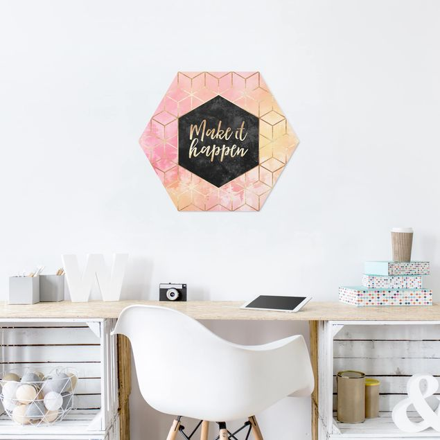 Hexagon Bild Forex - Make It Happen Geometrie Pastell
