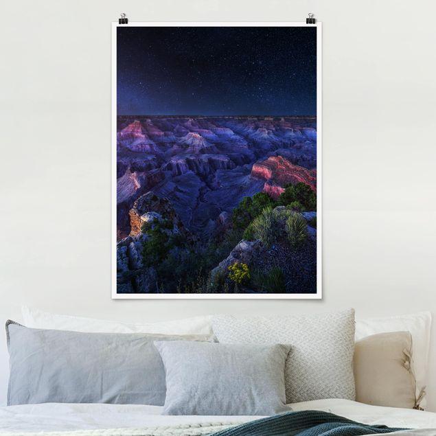 Poster - Grand Canyon Night - Hochformat 3:4