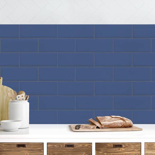 Küchenrückwand - Keramikfliesen Dunkelblau