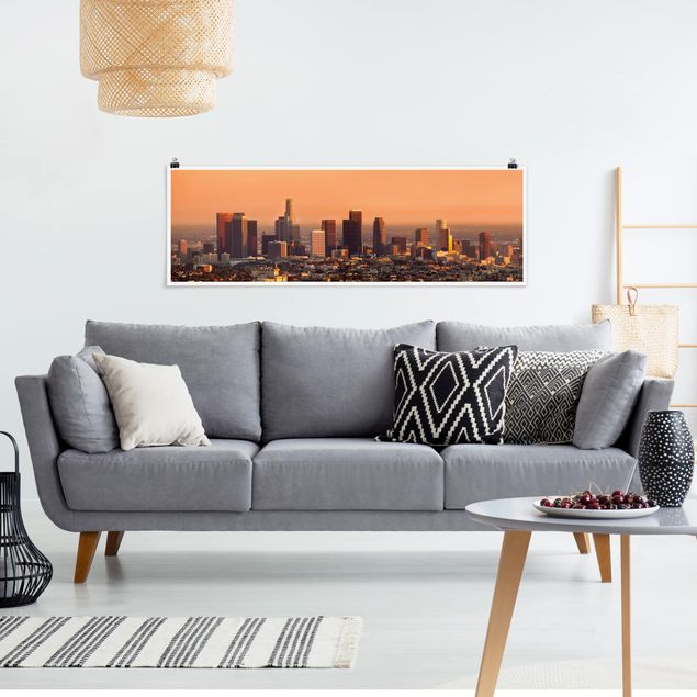 Poster - Skyline of Los Angeles - Panorama Querformat