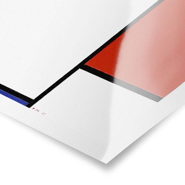 Poster - Piet Mondrian - Komposition I - Hochformat 3:2