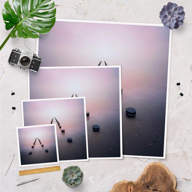 Poster - Zen am Strand - Quadrat 1:1