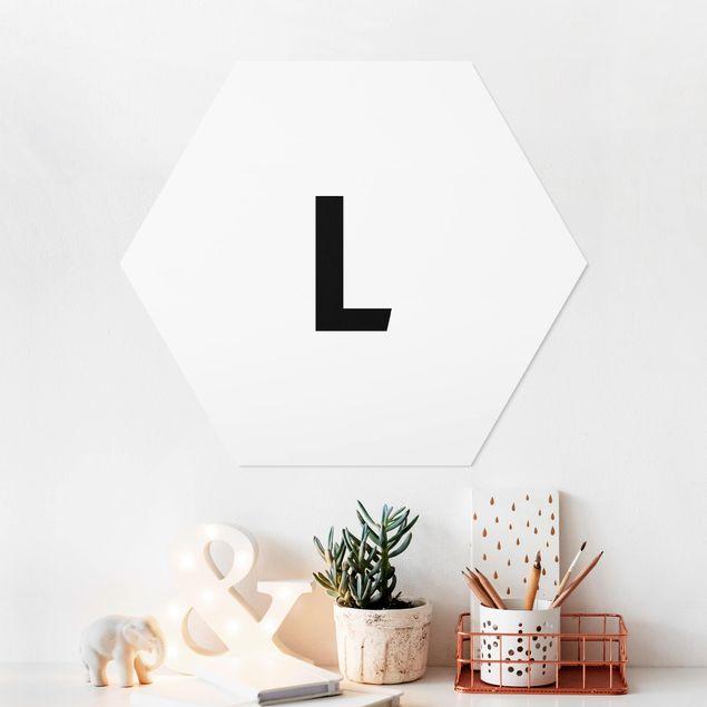Hexagon Bild Forex - Buchstabe Weiß L