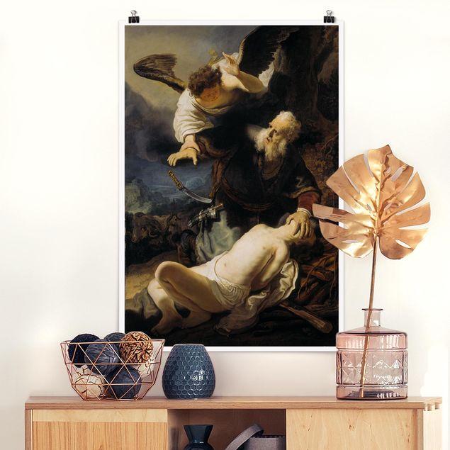 Poster - Rembrandt van Rijn - Die Opferung Isaaks - Hochformat 3:2