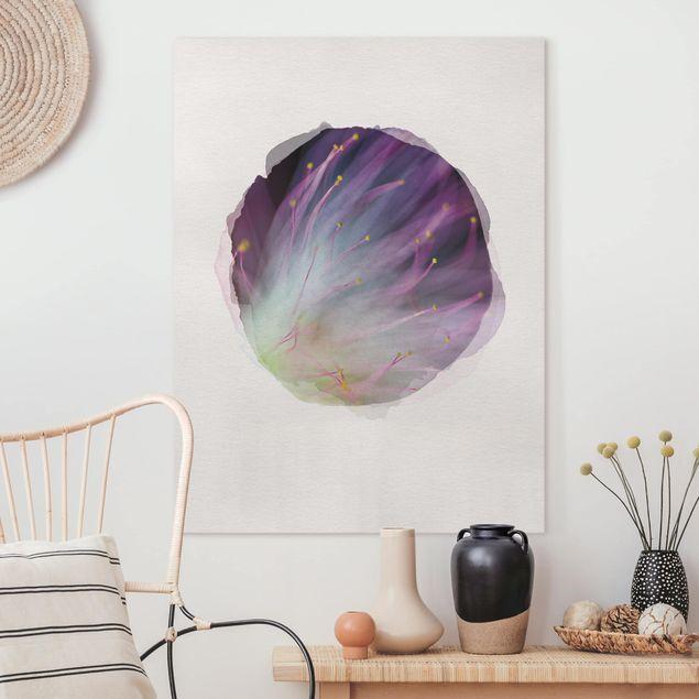 Leinwandbild - Wasserfarben - Blütenstaub - Hochformat 4:3
