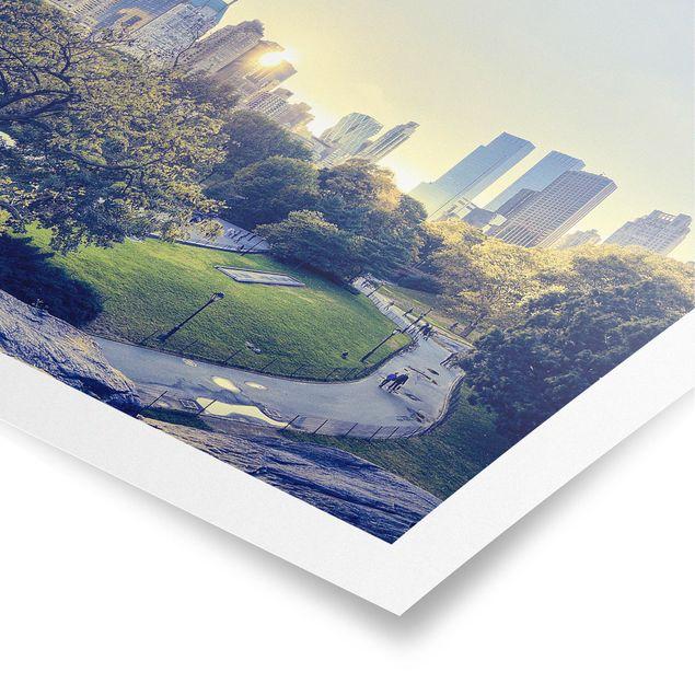 Poster - Peaceful Central Park - Quadrat 1:1