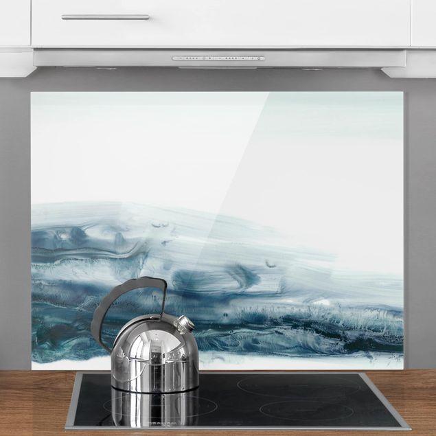 Glas Spritzschutz - Meeresströmung II - Querformat - 4:3