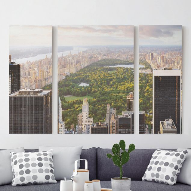 Leinwandbild 3-teilig - Blick über den Central Park - Triptychon