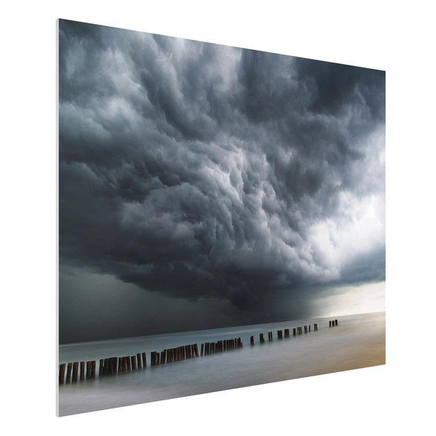 Forex Fine Art Print - Sturmwolken über der Ostsee - Querformat 3:4