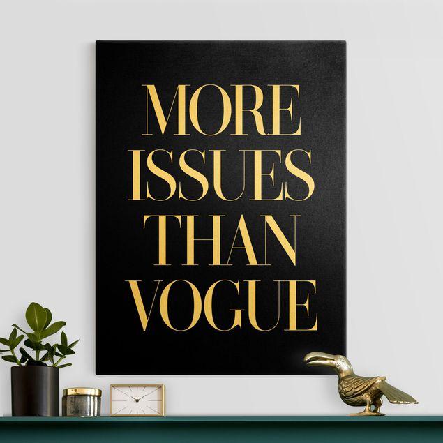Leinwandbild Gold - More issues than Vogue - Hochformat 3:4