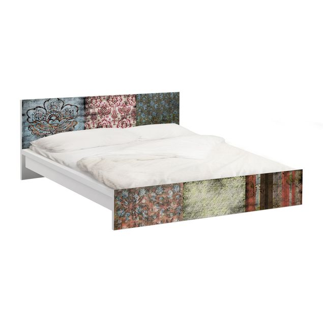 Möbelfolie für IKEA Malm Bett niedrig 140x200cm - Klebefolie Old Patterns