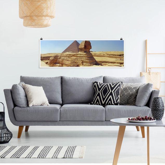 Poster - Geheimnisvolle Sphinx - Panorama Querformat