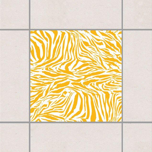 Fliesenaufkleber - Zebra Design Melon Yellow Gelb