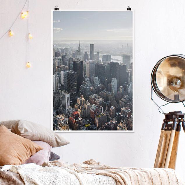 Poster - Vom Empire State Building Upper Manhattan NY - Hochformat 3:2