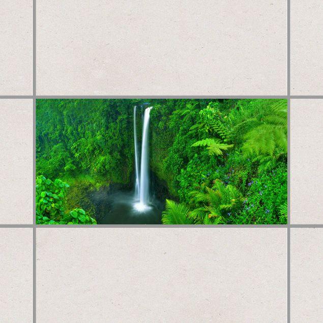 Fliesenaufkleber - Paradiesischer Wasserfall