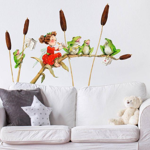 Wandsticker Erdbeerinchen Erdbeerfee - Konzert mit Fröschen