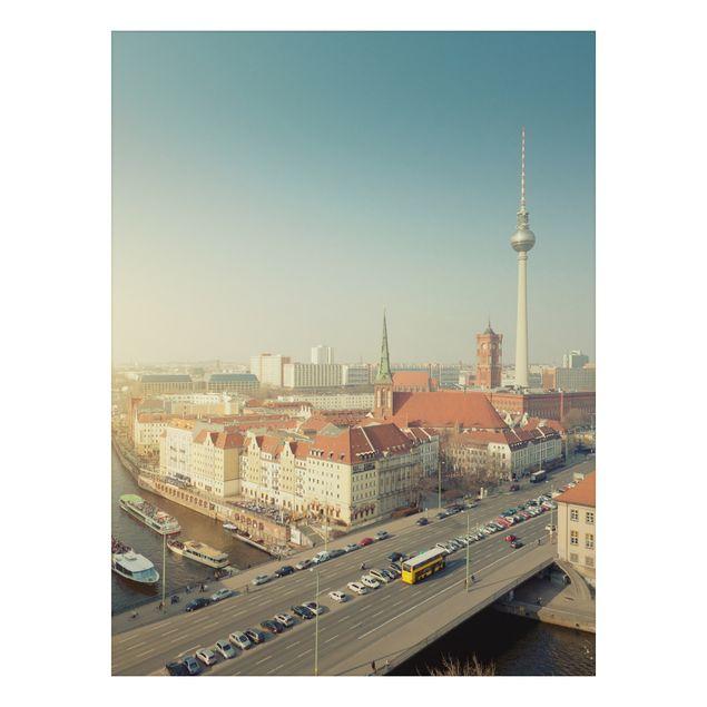 Alu-Dibond Bild - Berlin am Morgen