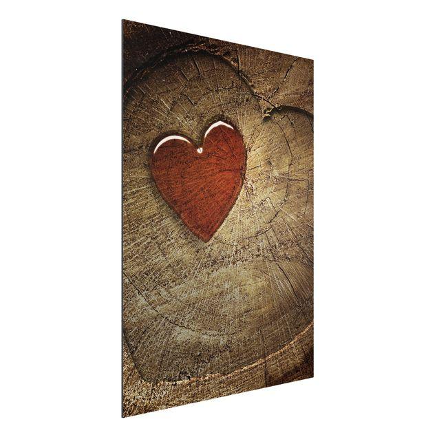 Alu-Dibond Bild - Natural Love